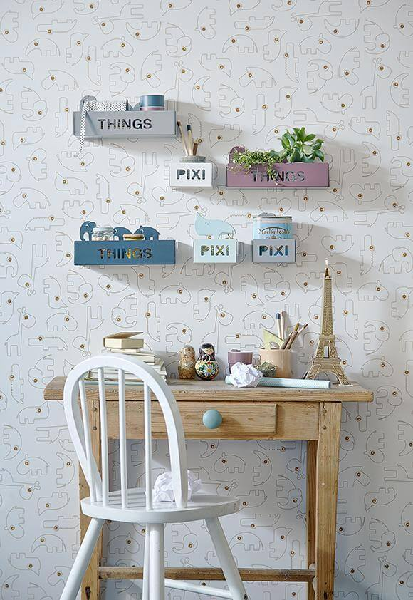 Done by Deer Things Kids Shelf Elphee - Grey