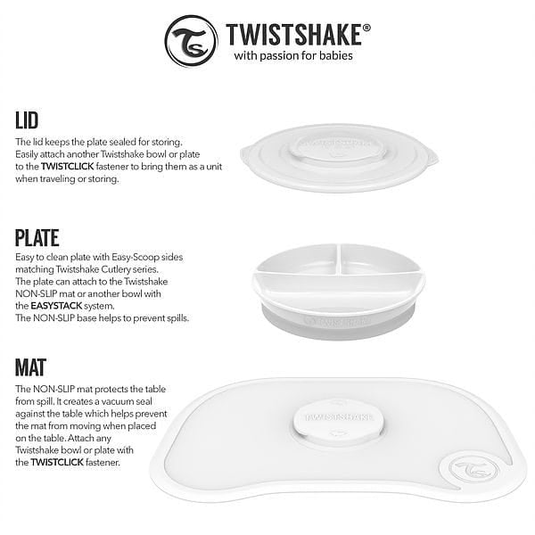 Twistshake Click Mat and Plate 6M