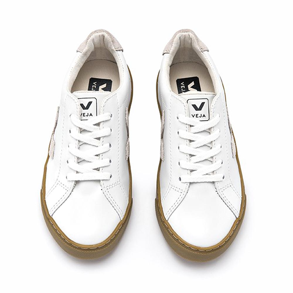 Veja Esplar Leather Lace Trainer - White IMAGE2