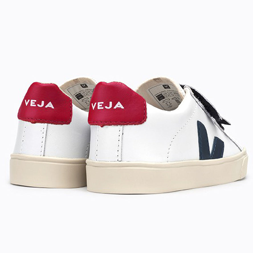 Veja Esplar Leather Lace Trainer - Red