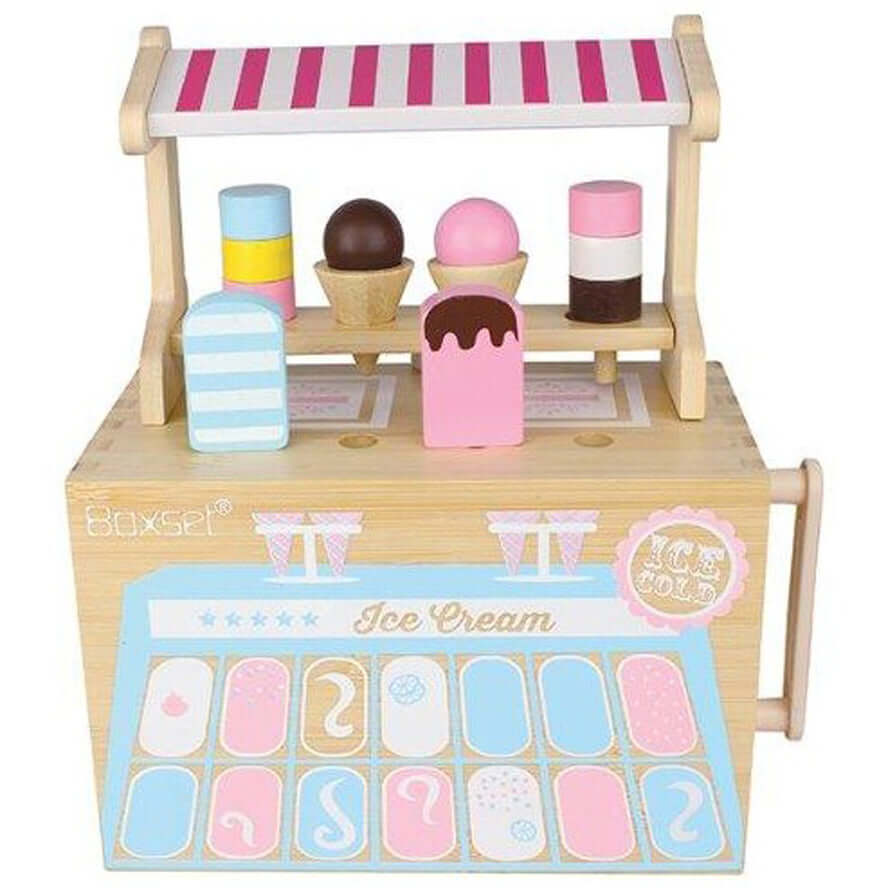 Boxset Portable Kids Bamboo Play Toy Set - Ice Cream