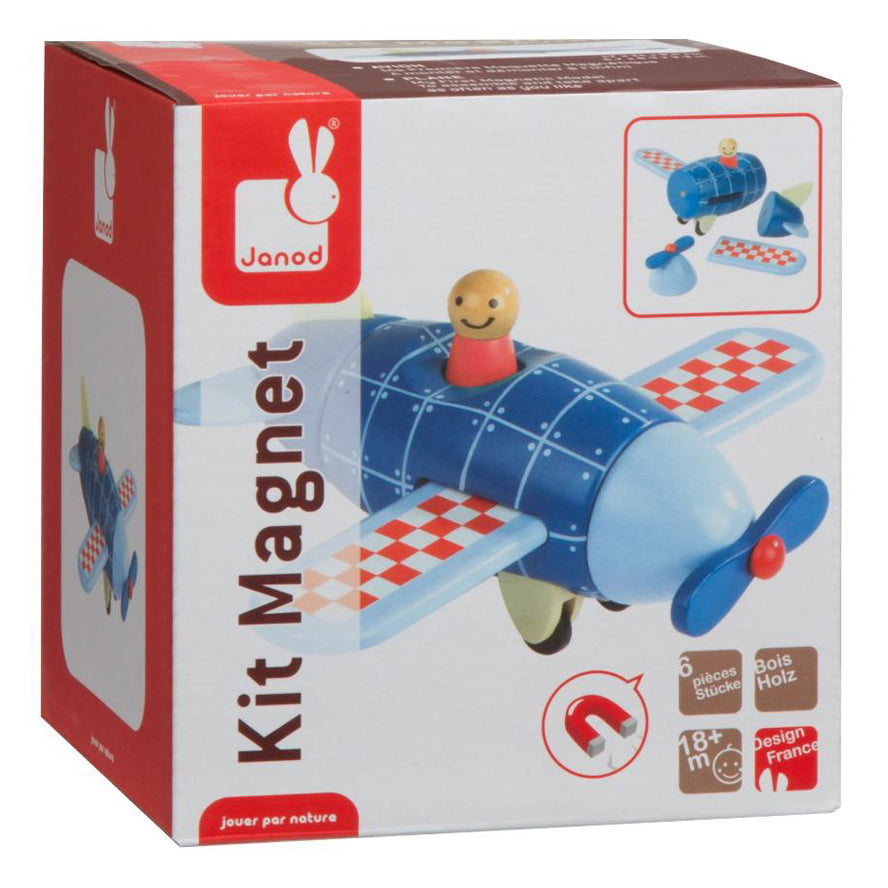Janod Wooden Toys -  Magnetic Airplane