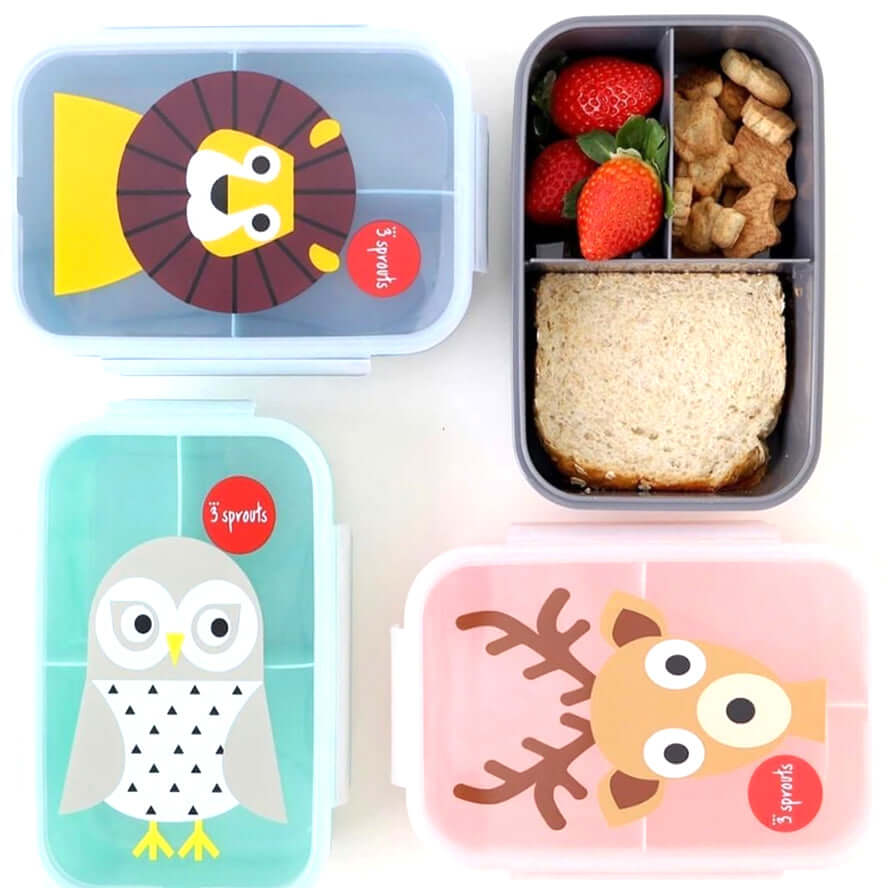 3 Sprouts Kids Bento Lunch Box - Fox
