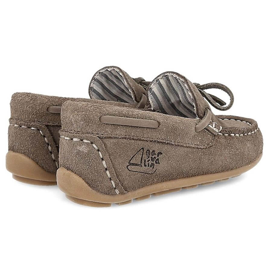 Garvalin Childrens Mocassins Loafers in Leather - Grey