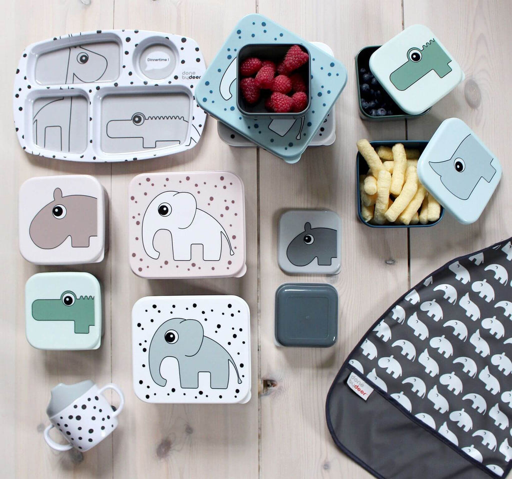 Done by Deer Kids Lunch Box Elphee - Grey
