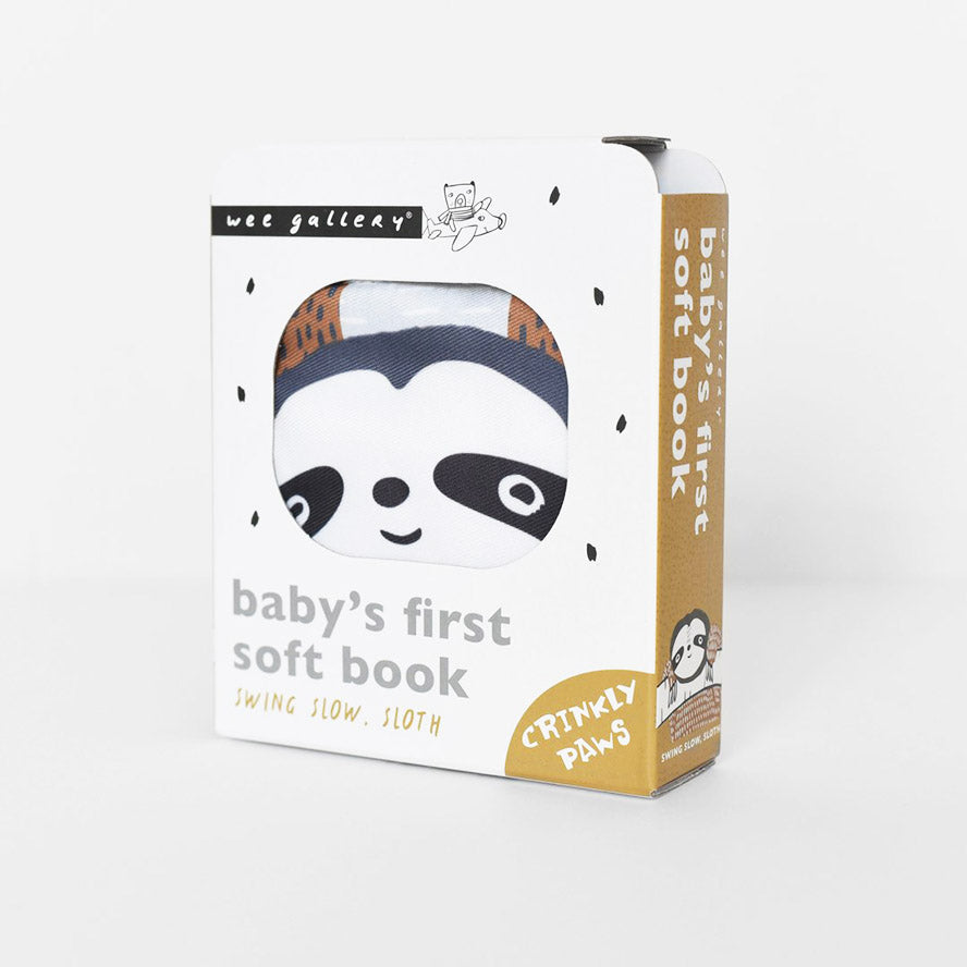 Wee Gallery Baby's First Soft Book -Swing Slow Sloth