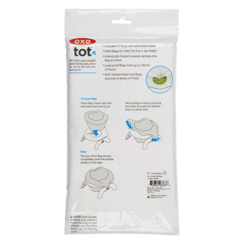 OXO 2-In-1 Go Potty Refill Bags - 10 Pack