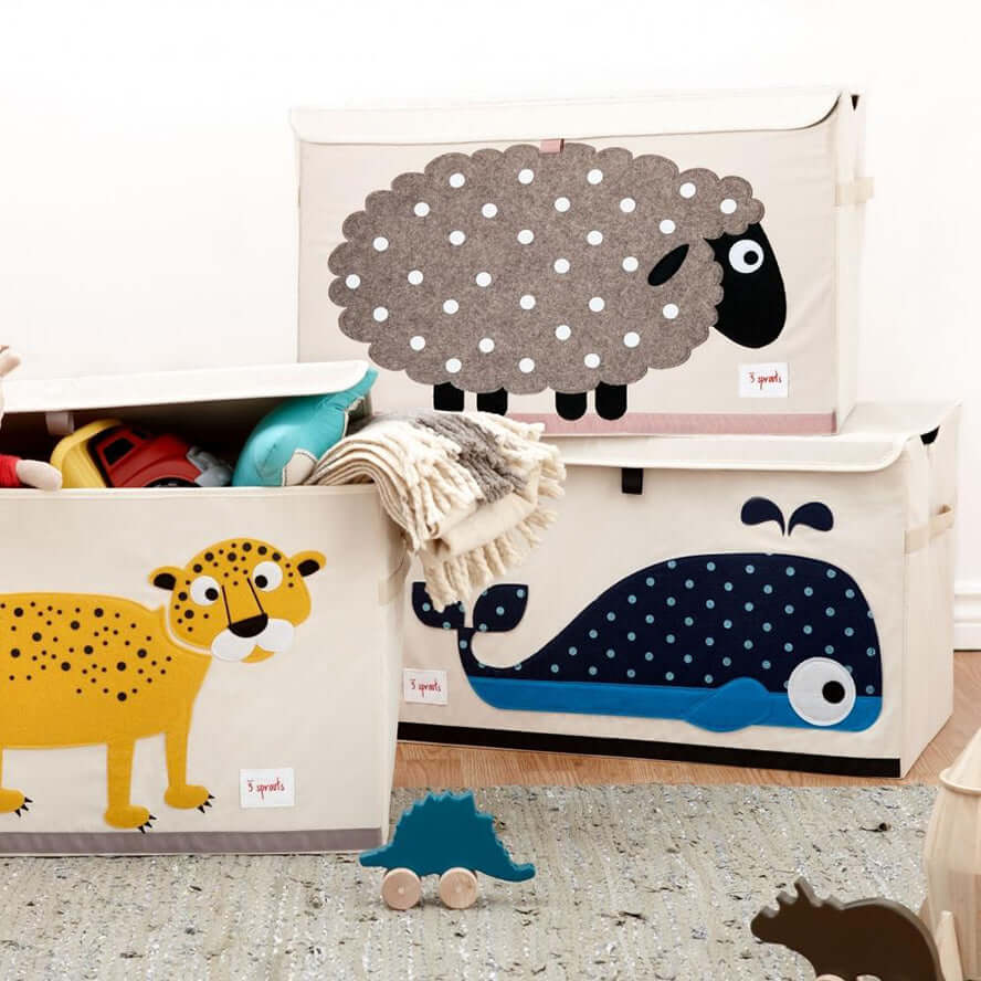 3 Sprouts Toy Storage Chest Box - Sheep
