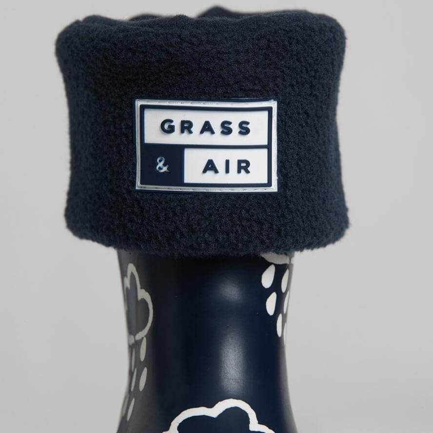 Grass & Air Kids Welly Socks Navy