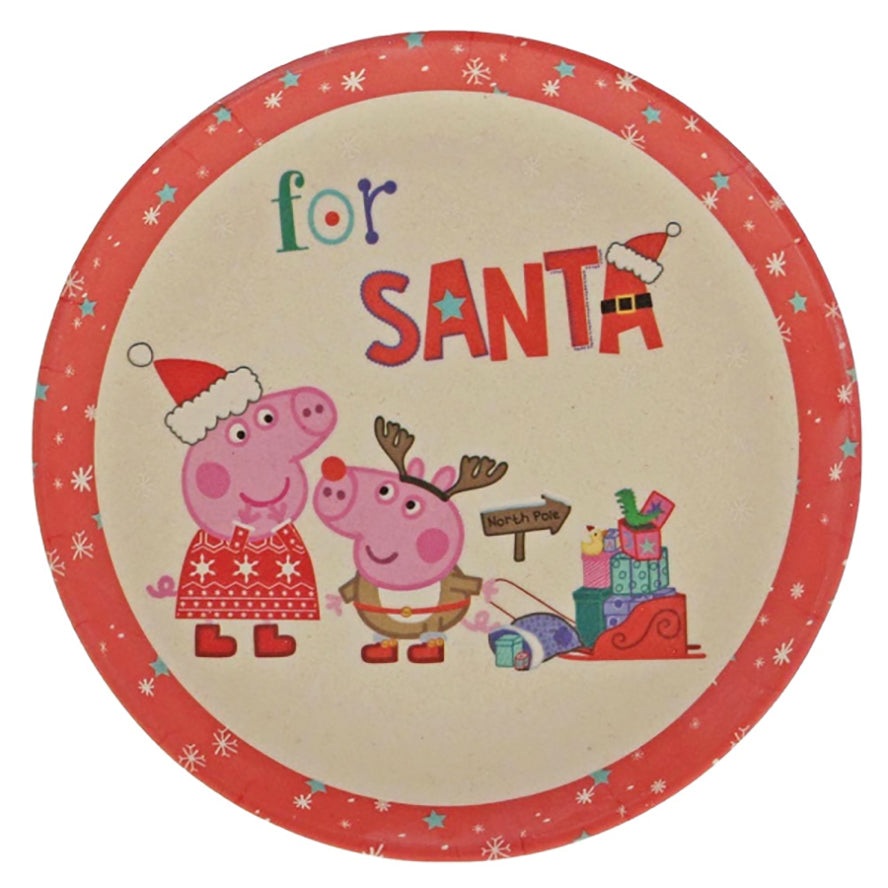 Peppa Pig Bamboo Dinner Set 2PCs - Christmas Eve