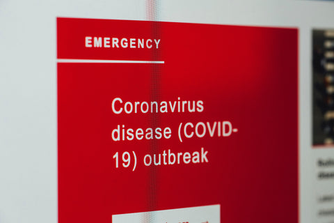 Coronavirus disease covid 19 pandemic outbreak, article on medical waste pollution