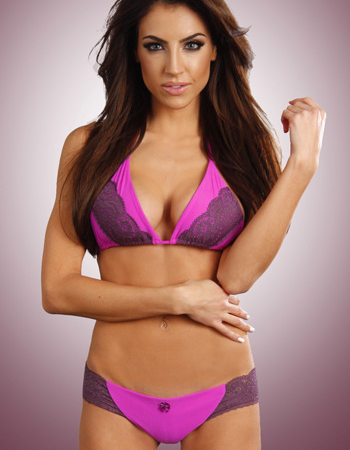 Purple Plum Lace Bikini Top