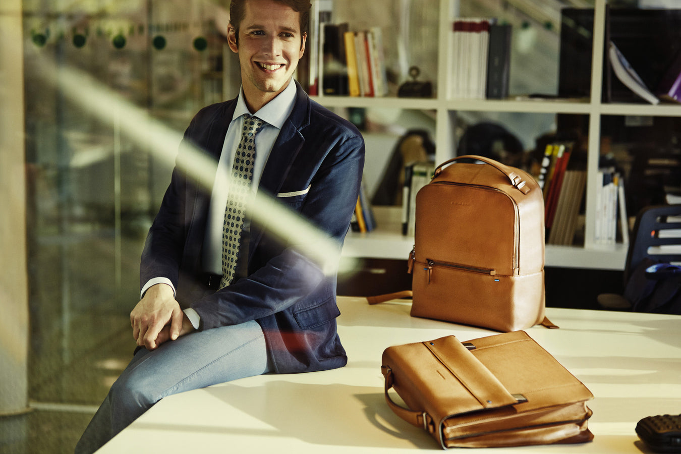 piquadro mens leather bags,backpack & briefcase