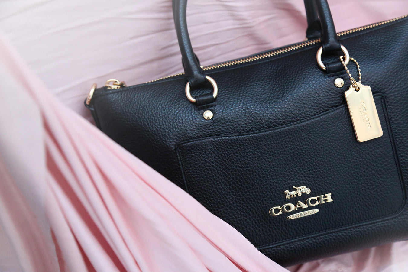 Coach leather handbag for women