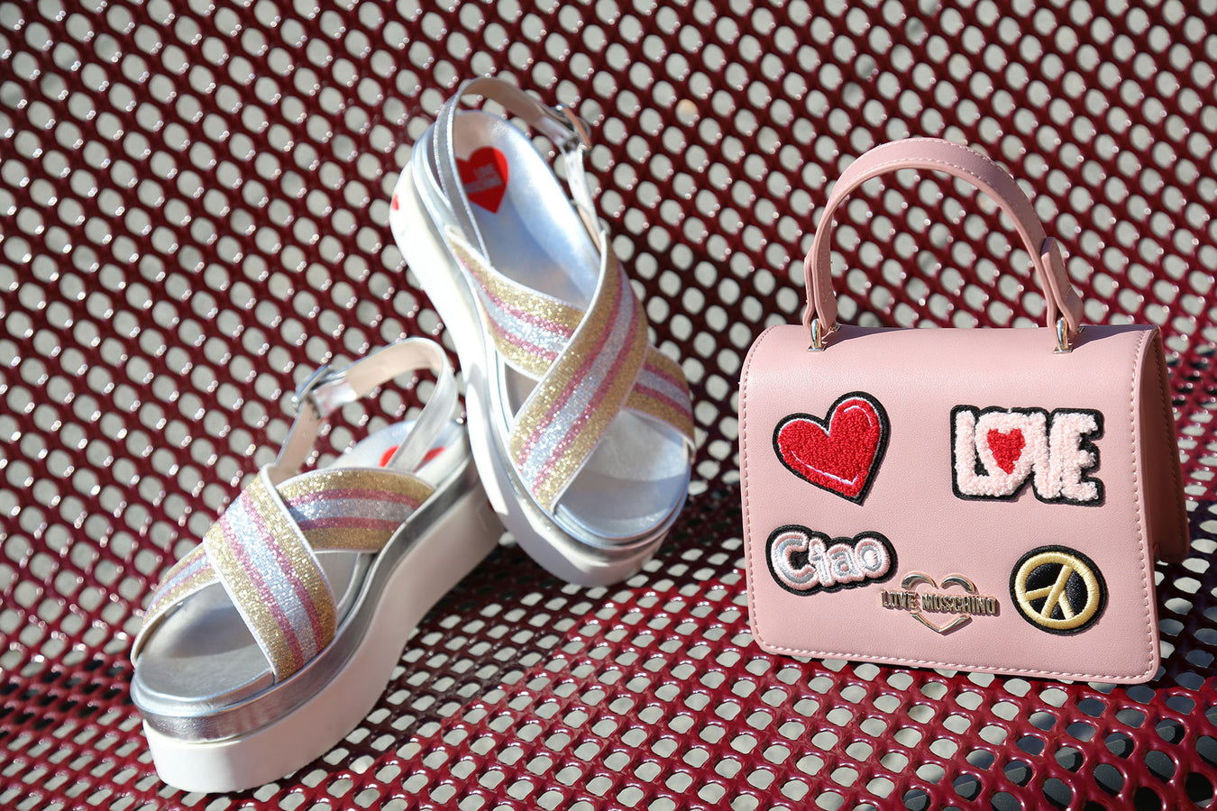 love moschino womens bags, shoes, sandals & trainers