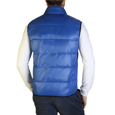 Blauer Quilted Shell Gilet in Blue