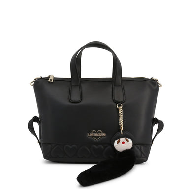 Love Moschino Faux Leather Handbag in Black