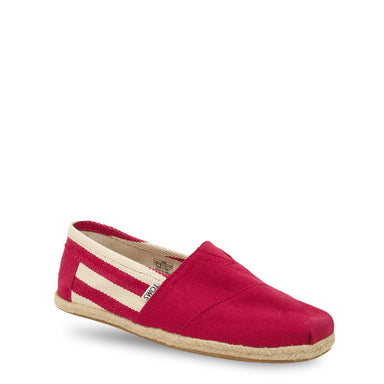 TOMS University Espadrille Trainers in Red