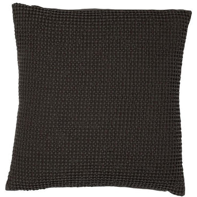 Maia Elegant Stonewashed Cushion Cover in Black