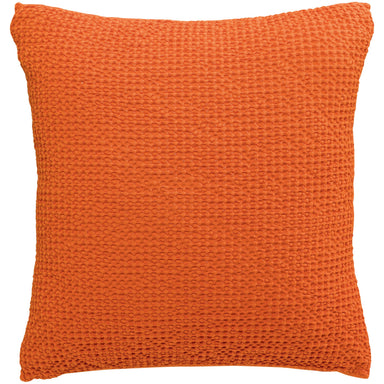 Maia Elegant Stonewashed Cushion in Orange