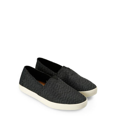 TOMS Yarn Slip On Trainers in Black/Grey