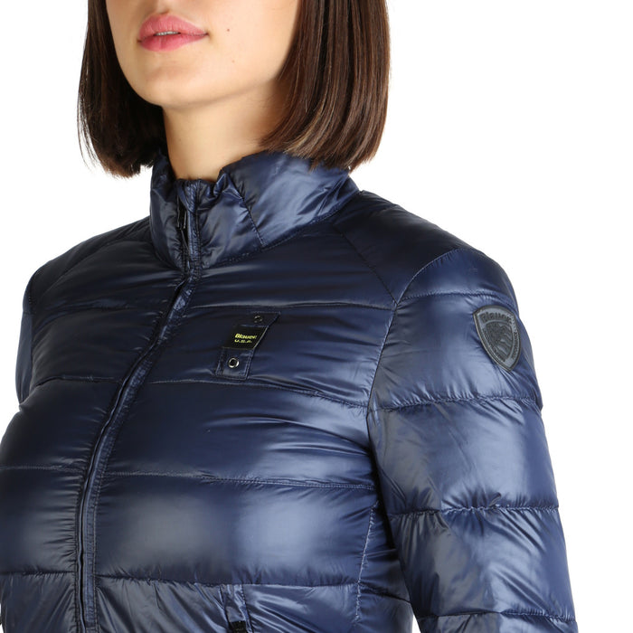 Blauer Thermal Quilted Look Jacket in Navy