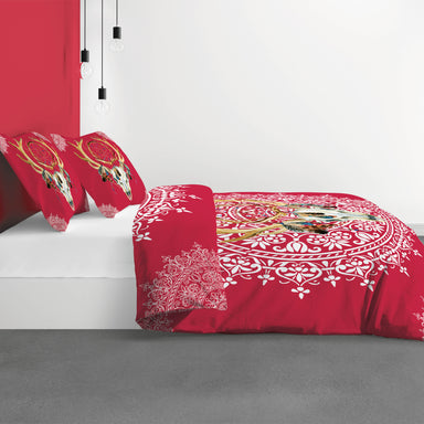 Red Sioux Cotton Duvet Cover Set of 2pc