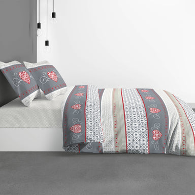 Cozy Grey Duvet Cover Set with Pillowcase 240x260