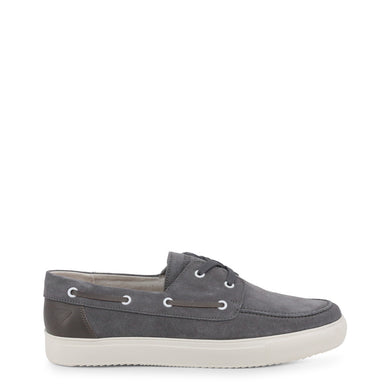 Docksteps Leather Lace Up Moccasins in Grey