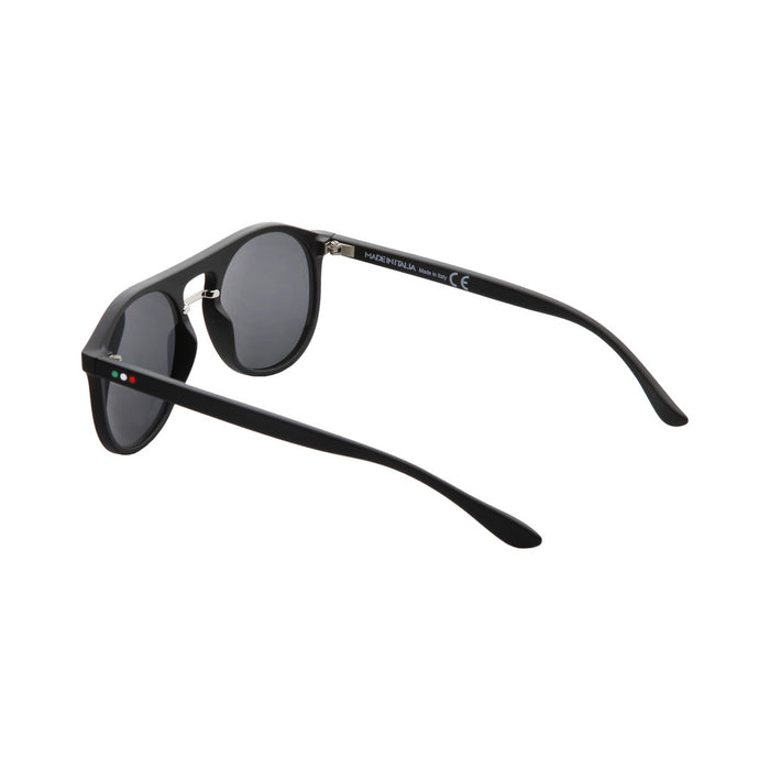 Made in Italia Round Flatbrow Sunglasses Black