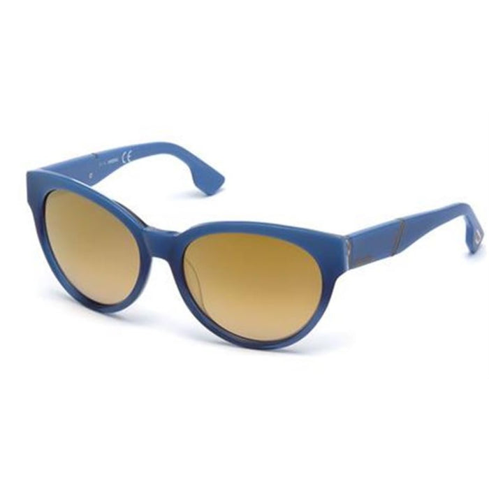 Diesel Round Plastic Frame Sunglasses in Blue