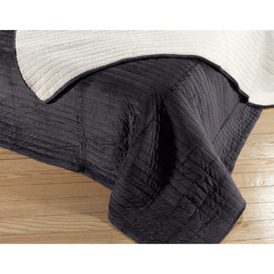 Winkler Louvy Quilted Bedspread Anthracite