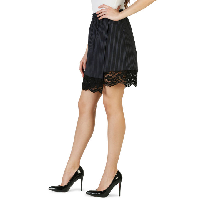 Pinko Skirt With Lace Black