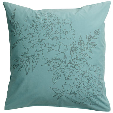 Green Floral  Print Noche Pillowcases
