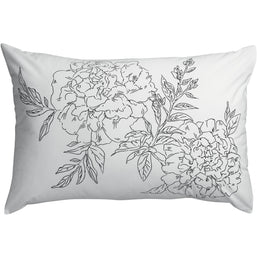 White Floral Printed Noche Pillowcase