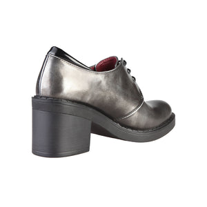Ana Lublin Desire Grey Block Heel  Lace Up Shoes