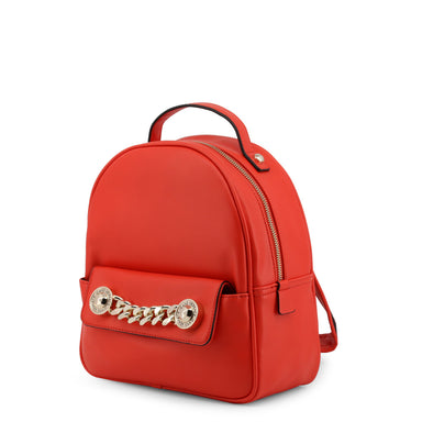 Versace Jeans Small Chain Detail Backpack in Red