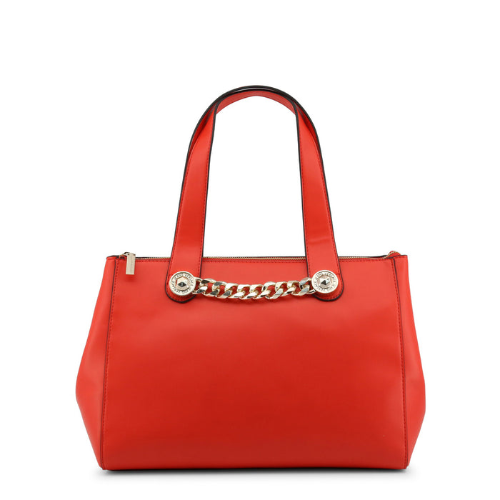 Versace Jeans Chain Detail Shoulder Bag in Red