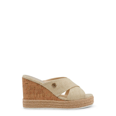 U.S. Polo Slip on Wedges Brown