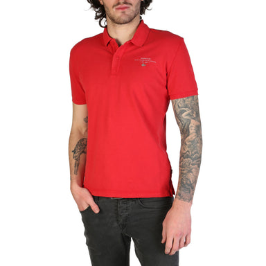 Napapijri - ELBAS  Polo Shirt with Chest Logo in Red