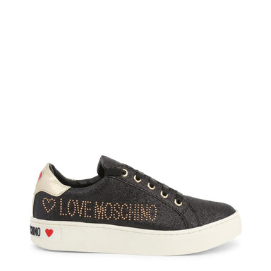 Love Moschino Black Leather Sneakers