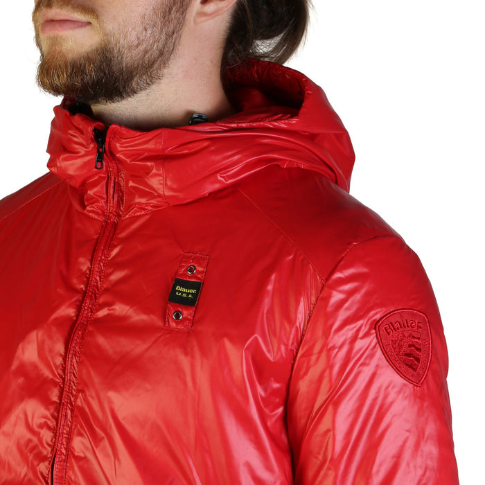 Blauer Hooded Puffa Jacket in Red