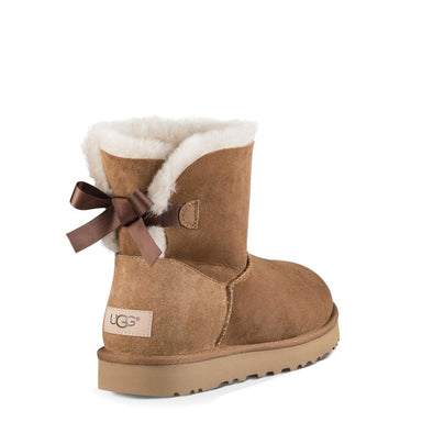 UGG Mini Bow Ankle Boots Brown
