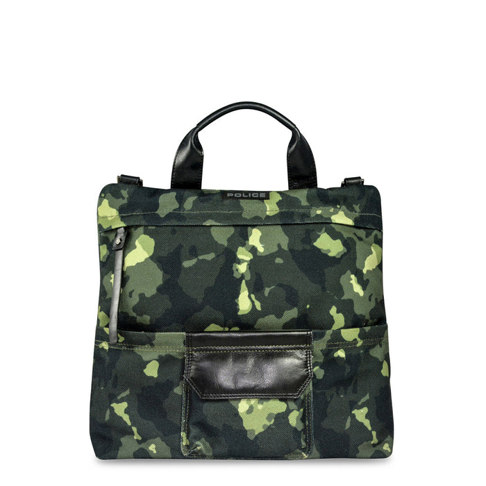 Police Camouflage Briefcase in Green