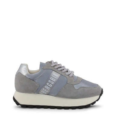 Bikkembergs FENDER Chunky Suede Trainers in Grey