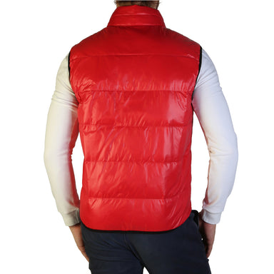 Blauer Puffe Gilet in Red