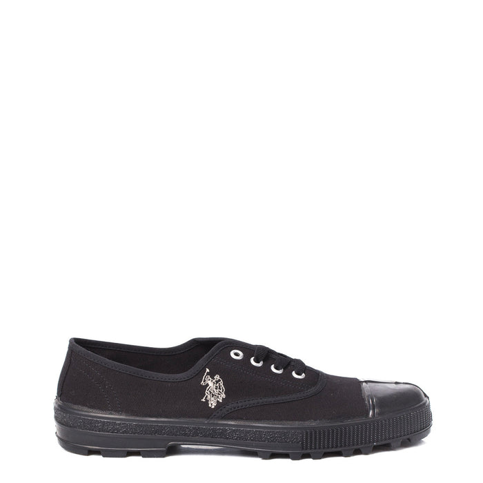 U.S. Polo Plimsolls with Toe Cup in Black