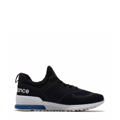 New Balance MS574 Sports Mesh Trainers in Black