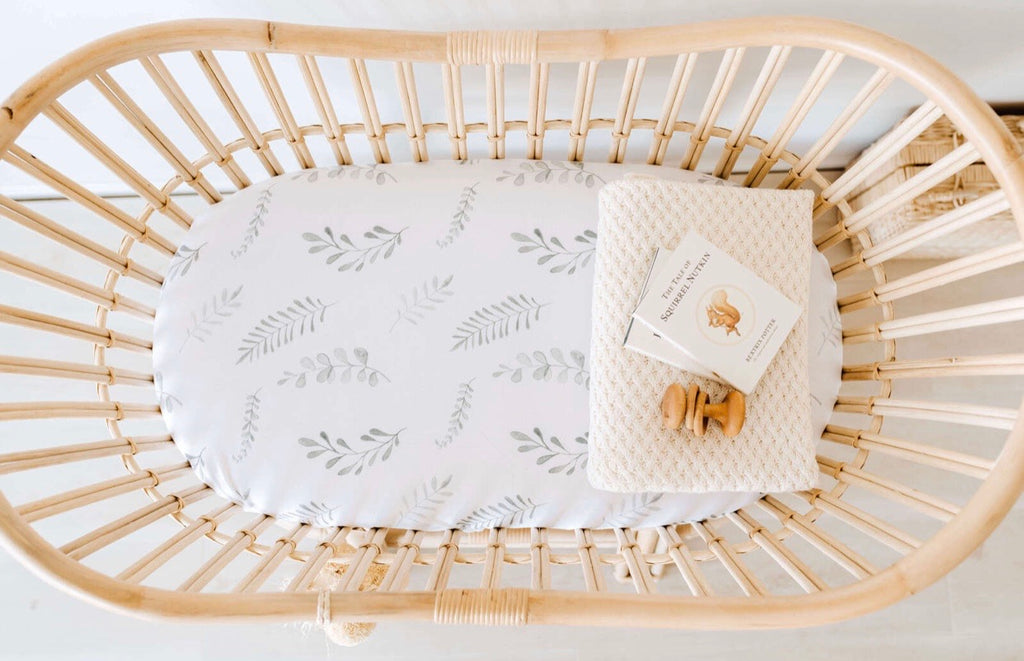 Wild Fern Fitted Bassinet Sheet/Change Pad Cover