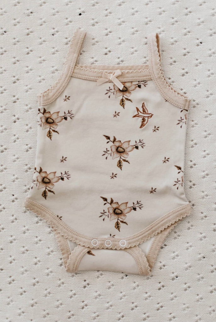 Piper Bug Frilly Singlet - Hazel